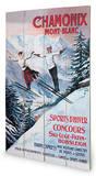 Chamonix Mont-Blanc Wood Sign Panneau en bois