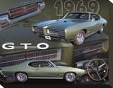 1969 GTO Reproducción en lienzo de la lámina