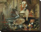 Allegory of Vanities of the World Stretched Canvas Print by Pieter Boel