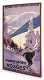 Winter Sports in the Vosges Cartel de madera