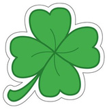 Four Leaf Clover Vinyl Sticker Stickers