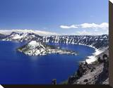Crater Lake Oregon Stretched Canvas Print by Michael Polk