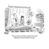"""He was doing well at first, but then he started drifting in and out of he…"" - New Yorker Cartoon Premium Giclee Print by Christopher Weyant"