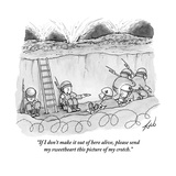 """""""If I don't make it out of here alive, please send my sweetheart this pict…"""" - New Yorker Cartoon Premium Giclee Print by Tom Toro"""