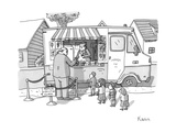 Executive cuts children in line for ice cream. - New Yorker Cartoon Premium Giclee Print by Zachary Kanin