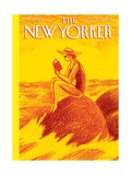 Reading Time - The New Yorker Cover, August 12, 2013 Premium Giclee Print by Anthony Russo