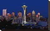 Space Needle Stretched Canvas Print by Michael Polk
