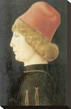 Portrait Of A Ferrarese Nobleman Stretched Canvas Print by Cosimo Tura