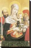 Virgin And Child With Saints Paul And Jerome Leinwand von Bartolomeo Vivarini