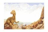 Illustration of Dilophosaurus Print