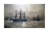Confederate States Cruiser Shenandoah at Melbourne, Australia, 1865 by Christian Poulsen Giclee Print