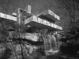 Exterior of Fallingwater Designed by Frank Lloyd Wright 1937. Created by Hedrich-Blessing Stampa fotografica