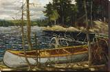 Thomson - The Canoe Stretched Canvas Print by Tom Thomson