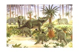 Palaeozoology, Cretaceous Period, Dinosaurs, Brachyceratops, Illustration by Nike Pike Posters