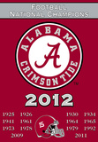 NCAA Alabama Crimson Tide Championship Years 2 Sided Banner with Pole Sleeve Flag