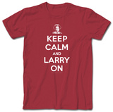 3 Three Stooges - Keep Calm Larry T-Shirt