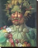 Rudolph II As Vertummus Stretched Canvas Print by Giuseppe Arcimboldo