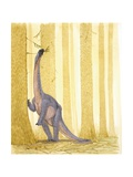 Illustration of Barapasaurus Posters