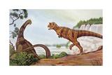 Illustration Representing Carnotaurus Pósters
