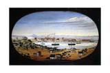 U.S. Navy Yard, Mare Island, California, 1857. Created by Mathews, Felix Giclee Print