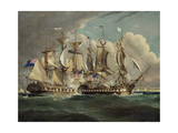 The Chesapeake and Shannon Off Boston, 1813 by Dodd, Robert Giclee Print