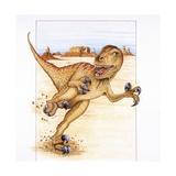 Illustration of Utahraptor Prints