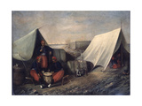 Chicago Zouaves in Camp, 19th Century. Artist Unidentified Giclee Print