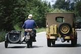 Meeting of Military Vehicles, Moto Guzzi Sidecars, 1941 Photographic Print