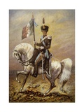 Standard Bearer of Cavalleggeri (Light Cavalry) of Lodi Giclee Print