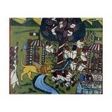 Battle Scene, by Abyssinian Artist, 1937 Giclee Print