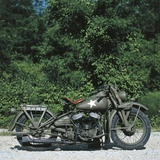 US WLA Harley Davidsno Military Motorcycle, 1941 Photographic Print
