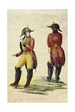 Italy, Uniform of Papal Courier, Watercolor, 19th Century Giclee Print