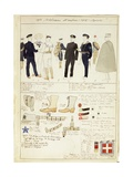 Uniform Variations of Kingdom of Italy, Color Plate by Quinto Cenni, 1912-1913 Giclee Print