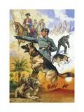 Quadrupeds Dellla Guardia Di Finanza, Illustrated by A. Biffignandi, 20th Century Giclee Print