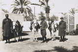 Libya, Italian Guardia Di Finanza Patrol with Mules, Leaving for Survey, 1927 Photographic Print