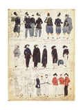 Various Italian Uniforms in Common Use Between 1847 and 1870 by Quinto Cenni, Color Plate Giclee Print