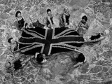 July 1945:  Women in a Swimming Pool at St Leonard's, Holding a Union Jack Afloat. Photographic Print