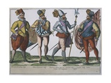 Military Costumes of the Spanish Army Giclee Print