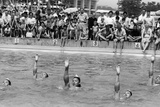 June 1962:  Japanese Synchronized Swimmers, Watch by a Crowd. Photographic Print