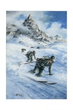 Italian Financiers on Ski, 1940-50 Giclee Print