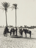 Libya, Homs, Horseback Patrol of Italian Financiers, 1935 Photographic Print