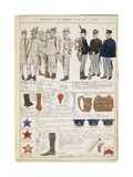 Uniform Variations of Kingdom of Italy, Color Plate by Quinto Cenni, 1906 Giclee Print