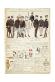 Uniform Variations of Kingdom of Italy, Color Plate by Quinto Cenni, 1907 Giclee Print