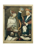Medical Doctor Examines Patient's Urine Giclee Print