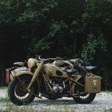 German BMW R75 Motorbike with Sidecar, 1942 Reproduction photographique
