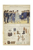 Uniform Variations of Kingdom of Italy, Color Plate by Quinto Cenni, 1905 Giclee Print