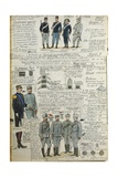Uniforms of Italian Army During World War I, by Quinto Cenni, Color Plate, 1915 Giclee Print