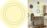 Buttercup Yellow Concentric Dot Wall Decal Sticker Wall Decal