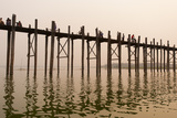 The 1.2 Km Wooden Footbridge Is the Longest Teak Bridge in the World Photographic Print by Alex Treadway