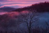 Sunset and Low Clouds Over the Blue Ridge Mountains Photographic Print by Amy & Al White & Petteway